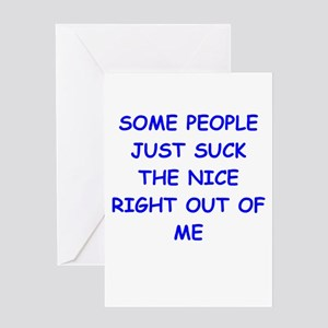 i hate people Greeting Card