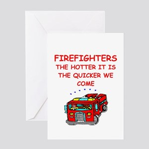 firefighter Greeting Cards
