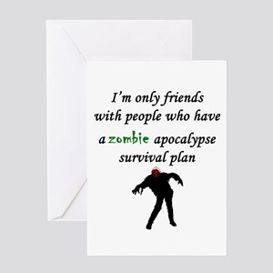 Zombie Plan Greeting Cards