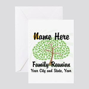 Customizable Family Reunion Tree Greeting Cards