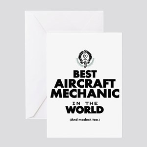 Best Aircraft Mechanic in the World Greeting Cards