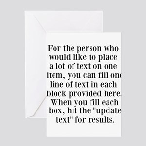 Lines of Text to Personalize Greeting Cards