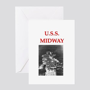 u.s.s.midway Greeting Card