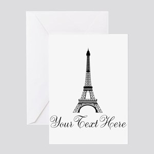 Personalizable Eiffel Tower Greeting Cards