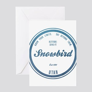 Snowbird Ski Resort Utah Greeting Cards