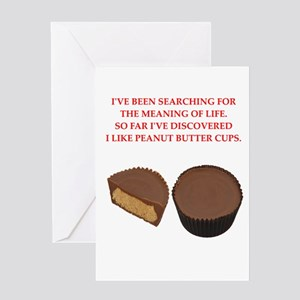 peanut butter cup Greeting Card
