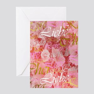 rose,cher,kara,liebe,love,pink,purp Greeting Cards