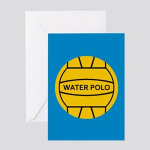Water Polo Ball Greeting Cards