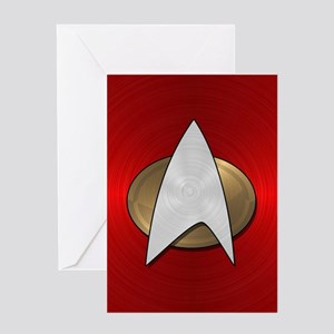 STARTREK TNG METAL 4 Greeting Card