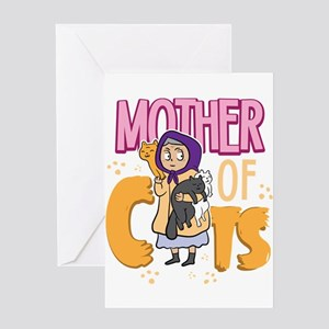 Cats Cat Lover Mother Cat Life Greeting Cards