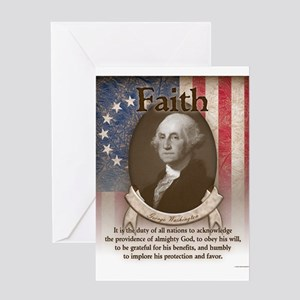 George Washington - Faith Greeting Cards