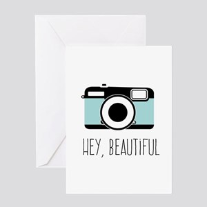 Camera Hey Beautiful Greeting Cards