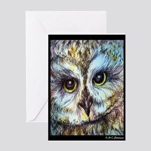 Owl, wildlife art, Greeting Card