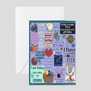 Knitters Card Greeting Cards