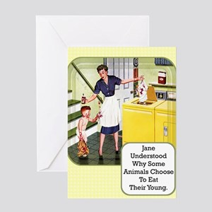 Eat Their Young Greeting Card