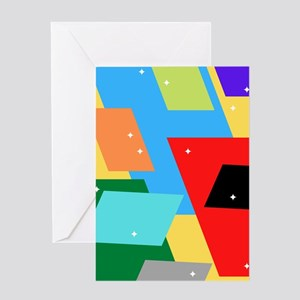Geometric shapes Greeting Cards