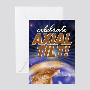Axial Tilt Greeting Card