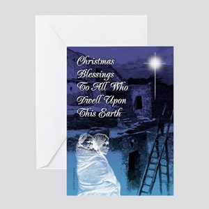 Christmas Blessings Cards  Greeting Card
