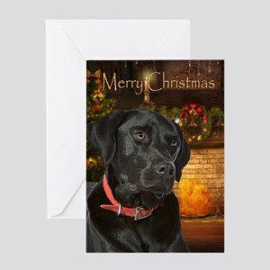 Holiday Black Lab Card