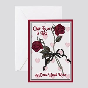Dead Dead Rose Greeting Card