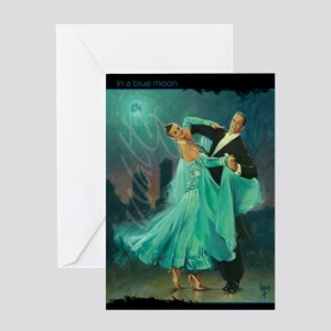Waltz in a Blue Moon Greeting Card