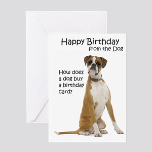 Boxer Birthday Cards