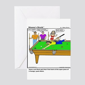 POOL SHARK AT HIS BEST! Greeting Cards