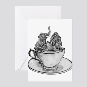 Teacup Elephants Greeting Card