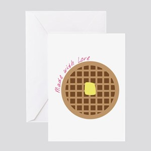 Waffle_Made With Love Greeting Cards