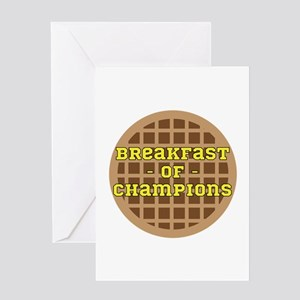 Breakfast of Champions Greeting Cards