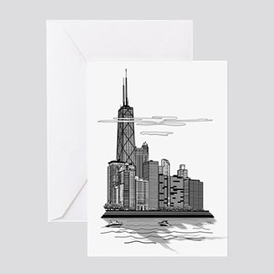 Chicago Skyline Art Greeting Card