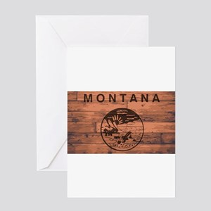 Montana Flag Brand Greeting Cards