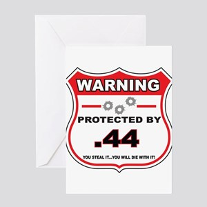 protected by 44 shield Greeting Card