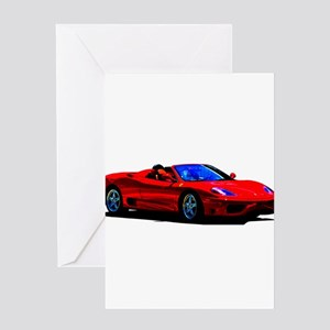 Red Ferrari - Exotic Car Greeting Cards