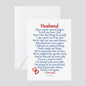 Husband Love Greeting Cards