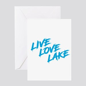 Live Love Lake Greeting Cards