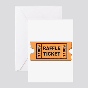 Raffle Ticket Greeting Cards