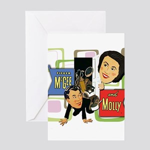 Fibber McGee And Molly Greeting Card
