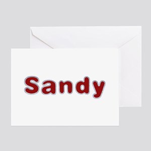 Sandy Santa Fur Greeting Card