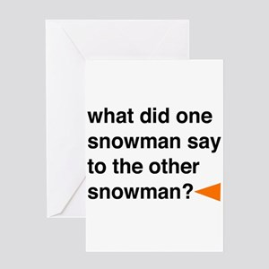 Snowman Joke Greeting Card
