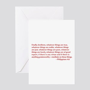 Philippians-4-8-opt-burg Greeting Card