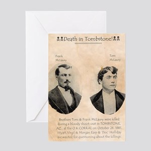 Death in Tombstone Greeting Card