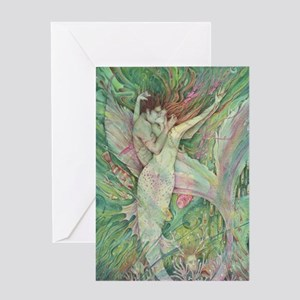 The Mermaid the Sailor Greeting Cards