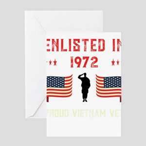 Vietnam Veteran Enlisted 1972 Quote Greeting Cards