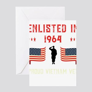 Vietnam Veteran Enlisted 1964 Quote Greeting Cards