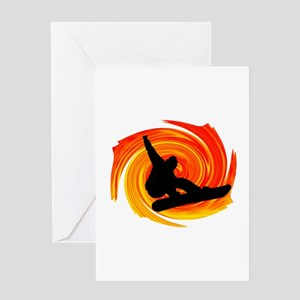 SNOWBOARD Greeting Cards