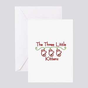 Three Little Kittens Greeting Cards