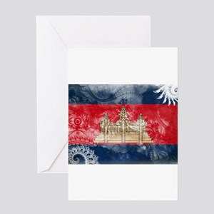 Cambodia Flag Greeting Card