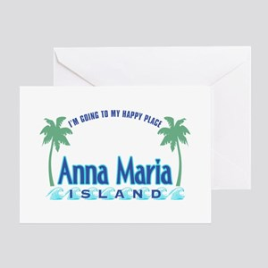 Anna Maria Island-Happy Place Greeting Card