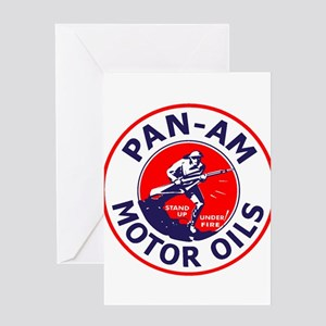 Pan Am Motor Oil 1 Greeting Cards